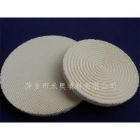 供应方孔蜂窝陶瓷板 直径165mm燃气灶具片 红外线陶瓷片批发