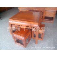 非花餐桌 小方桌 实木餐厅家具 红木家具 榆木家具红木工艺可订做