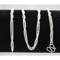纯银平链批发 纯银男项链 纯银项链 纯银首饰 990男式纯银平链