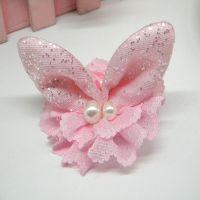 韩国版儿童发饰品 动物兔耳朵宝宝发夹鸭嘴夹 蕾丝头饰义乌批发