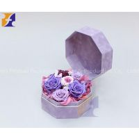 Octagon shaped flower box / watch packaging box jewelry box /Luxury gift packaging box / leather gift box