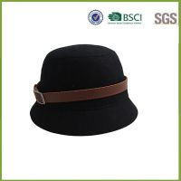 女士帽子厂家 外贸出口时装冬季保暖定型圆顶礼帽 毛呢大沿礼帽