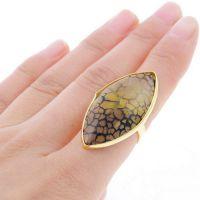 新款 速卖通 欧美 外贸饰品批发 镀金 乌龟 玛瑙 开口 合金戒指