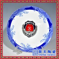 高档家饰纪念盘,山水墨彩陶瓷赏盘,复古文艺挂盘