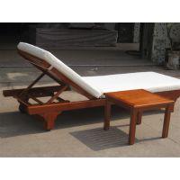 沙滩椅 户外实木沙滩椅 泳池躺椅户外午休休闲躺床