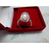 天然宝石戒指 粉水晶戒指 芙蓉石戒指 纯银戒指 厂价直销