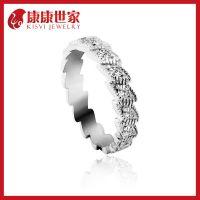 Kisvi纯银戒指指环工厂批发多看你一眼品牌925纯银银饰戒指女戒指