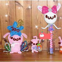 毛根彩色毛绒条扭扭棒 幼儿园儿童手工DIY制作益智玩具 厂方批发