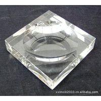 精品水晶烟灰缸 玻璃水晶烟灰缸 四角水晶烟灰缸 激光内雕烟灰缸
