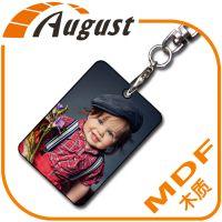 热转印空白耗材MDF木质钥匙扣简装A303-1 可印照片 个性定制钥匙扣