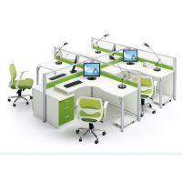 广州厂家直销办公家具办公桌 时尚简约现代4人位组合职员办公屏风