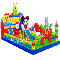 2016河南华龙新款儿童充气城堡 儿童充气滑梯 充气滑滑梯