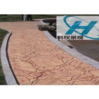 青海混凝土压模装饰压模地坪工程