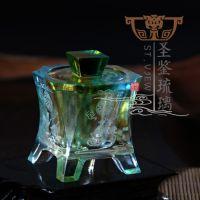 佛教法器 琉璃圣水杯净水杯 佛教用品批发 厂家直批 福报 套装可单批