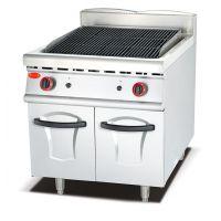 供应千麦QM-RH 燃气火山石烤炉连柜座 燃气烤炉 立式烤炉