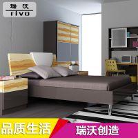 专业销售 简约现代家私板式床 成人套房板式床