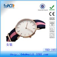 钟表厂批发玫瑰金休闲女士手表尼龙表带 加工定制不锈钢情侣对表