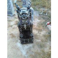 石雕麒麟|大石代雕塑|石雕麒麟门墩
