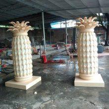 玻璃钢菠萝头灯罩砂岩树脂水果模型透光灯笼广场人造石菠萝灯饰