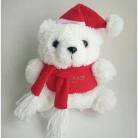 东莞工厂生产定做毛绒玩具圣诞熊 泰迪熊 围巾熊公仔圣诞节礼物