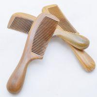 天然正品 按摩梳绿檀木梳 .保健梳子 名贵养生木梳 木质工艺品梳