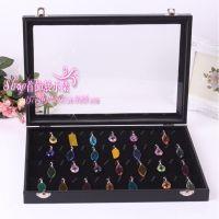 档多功能玻璃盖混盒挂件吊坠珠宝箱 首饰品展示收纳盒 厂家直销