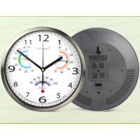 榛利 挂表 挂钟时尚客厅大号钟表个性挂钟田园欧式时钟 带温湿度时钟 A1005