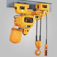 超低环链电动葫芦2t4m起重机低净空低间距电葫芦WKTO2吨4米双链