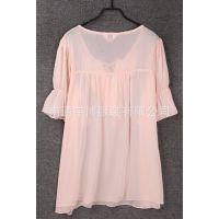新款2015女装夏装二件套雪纺衫纯色短款性感吊带连衣裙批发AJ31