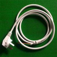 供应排插板白色电源线国标ccc3*0.75尾部剥皮烫锡销售/批发