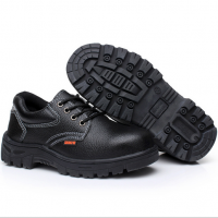 劳保鞋 安全鞋 防护鞋工作鞋低帮荔枝纹牛皮防砸防刺防滑绝缘现货