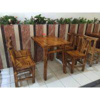深圳碳烧木桌椅 做旧复古餐桌椅 行一家具定做