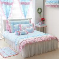 床上用品 批发 全棉韩式三公主花边四件套  纯棉蕾丝床罩 代发货
