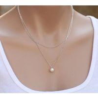 Ebay 速卖通 热销新款欧美 街拍简约双层珍珠项链颈链 批发