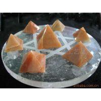天然水晶 水晶手链  挂件 工艺品  红东棱金字塔七星阵