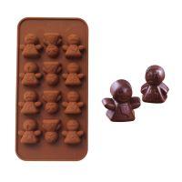 娃娃表情 硅胶巧克力模 硅胶蛋糕模具烘培工具L009