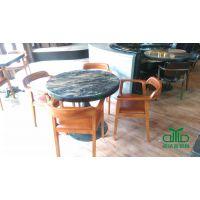 供应咖啡桌/西餐厅/甜品桌/奶茶桌板式餐桌 防火板餐桌椅定制