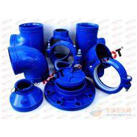 潍坊亿佰通牌饮用水沟槽管件,符合国家饮用水标准的球墨铸铁件