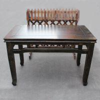 中餐厅复古风格餐桌 实木榆木餐桌 外婆家连锁餐厅专用方桌海德利定制