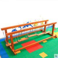 湖南幼儿游乐项目 树桩荡桥 东莞木制儿童游乐设备定制 室内游乐设施厂家直销