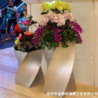 螺旋花盆 玻璃钢商场美陈花盆装饰品 专业生产中式高端花盆可定做
