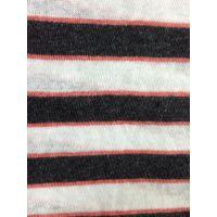 亚麻棉色纺色织条纹汗布 春夏装针织布