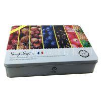 东莞马口铁盒厂家 定做法式月饼铁盒包装 曲奇饼干铁盒包装
