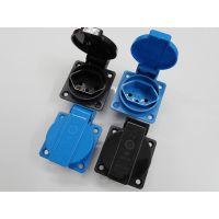 瑞士防水插座 户外电桩电源暗装插座 防水等级IP44