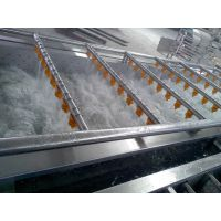 华易达不锈钢大产量气泡水浴喷淋QX1200气泡清洗机