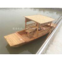 观光木船山东微山湖景区手划船观光游船中式常用客船