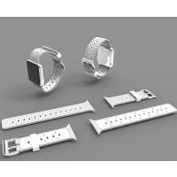俊奇Jun-Q35 apple watch苹果表带 iwatch硅胶双色38/42表带批发厂家定制