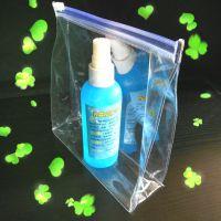 定制 PVC透明pvc塑料薄膜拉链自封自立礼品包装袋 定制