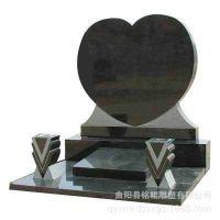 厂家直销各种款式墓碑 心型石雕墓碑 定做各种石材手工雕刻墓碑