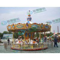 大人和孩子一起玩的电动木马 冒险家儿童乐园简易转马 16座简易转马多少钱